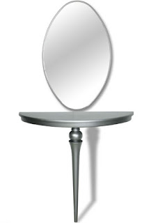 Consola y espejo plata para el recibidor