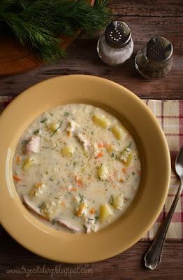 Zupa ziemniaczana z kaszą jaglaną – kuchnia podkarpacka