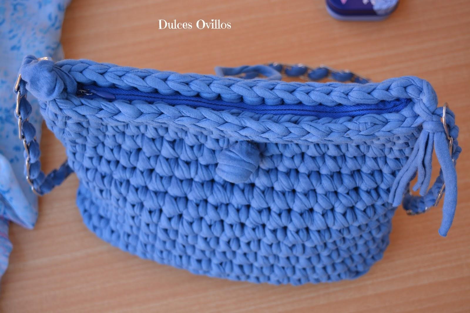 Dulces ovillos bolso de trapillo crochet chunky bag for Bolso crochet trapillo