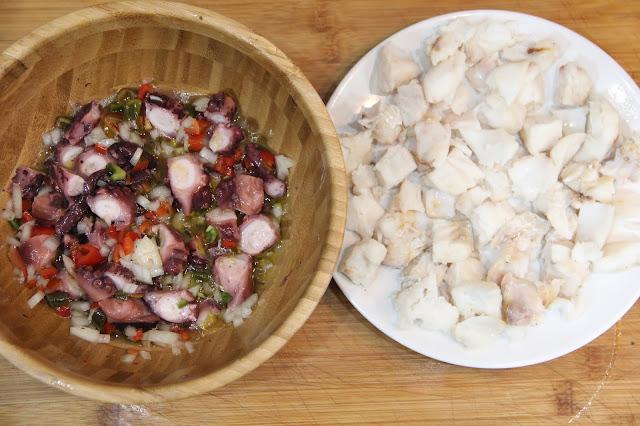receta fácil de salpicon de pulpo y marisco pakus lazyblog