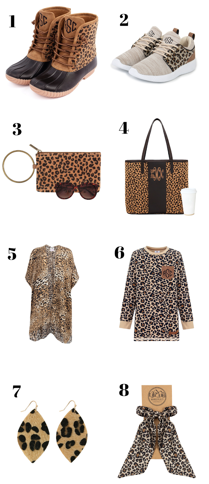 leopard themed marleylilly items