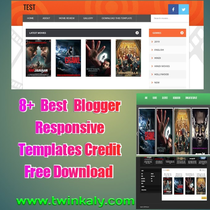 +8 Best Responsive Movies Templates Free Credit For Blogger 2020