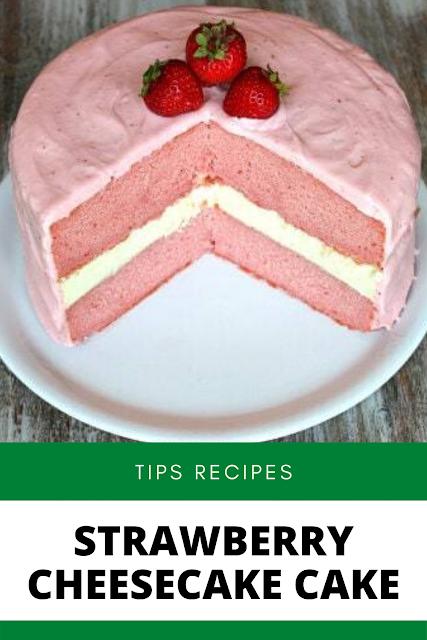 ✓ STRAWBERRY CHEESECAKE CAKE