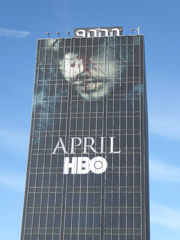 Giant Game of Thrones season 6 Jon Snow billboard