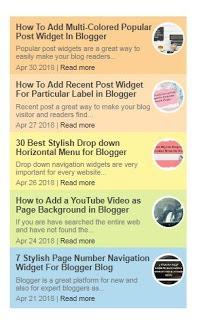 9 Best Recent Post Widget For Blogger Blog