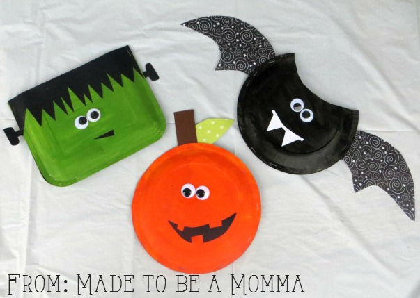 Halloween Paper Plate Treat Bag Kids Craft Contributor