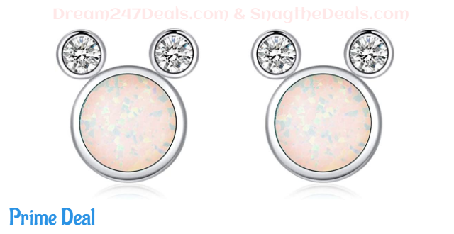 50% OFF Hypoallergenic S925 Mouse Opal Earrings Gifts for Girls