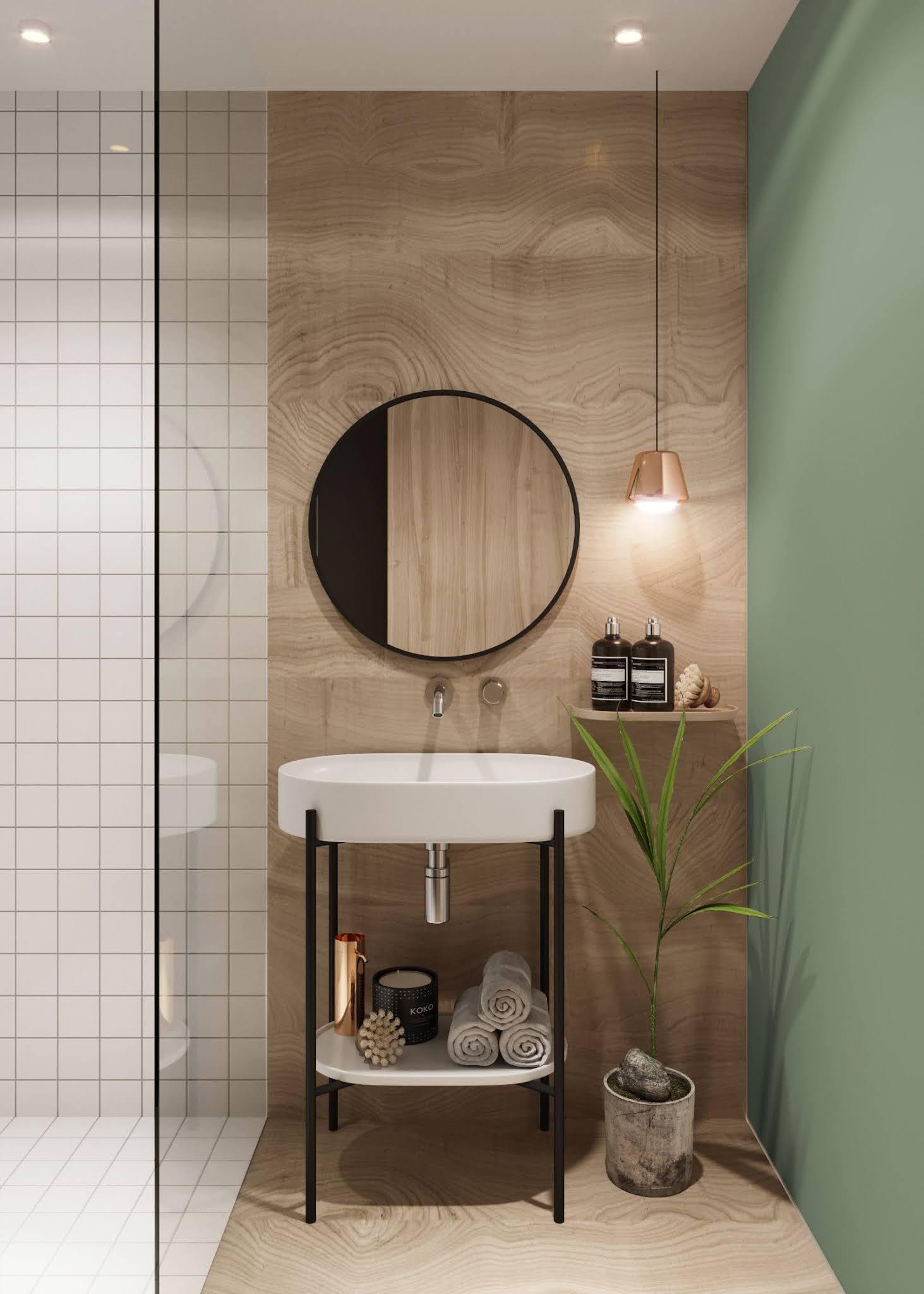 ilaria fatone inspirations - une salle de bains mixant couleurs et matériaux