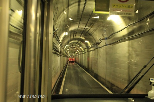 立山トンネルトロリーバスの道