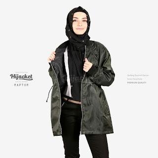 Hijacket Bomber Parachute Dourmill 75% Waterproof + QUILTING DOURMILL DACRON [Jaket Hijab]