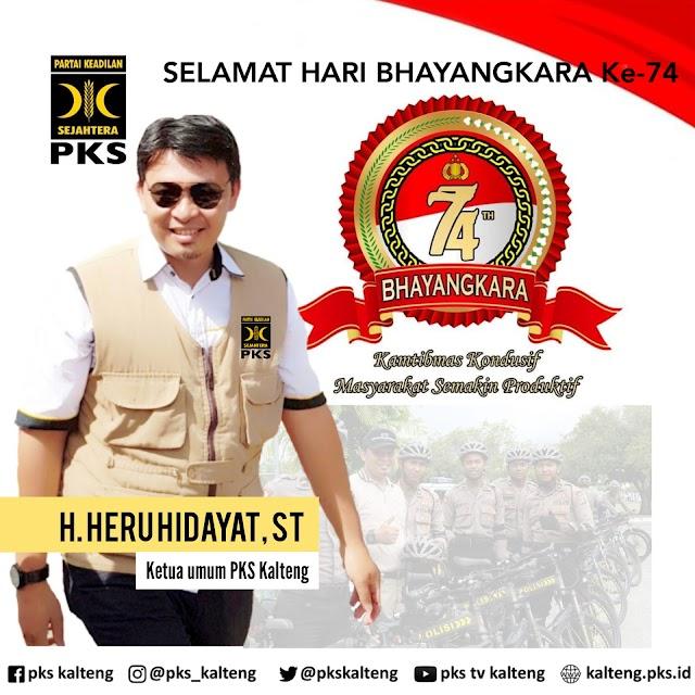 PKS Kalteng Ucapkan Selamat Hari Bhayangkara ke-74