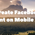 Create Facebook Event on Mobile App