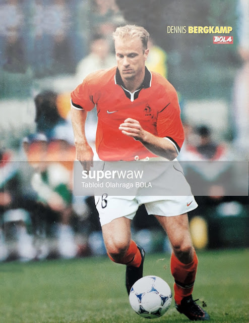 DENNIS BERGKAMP NETHERLAND WORLD CUP 1998