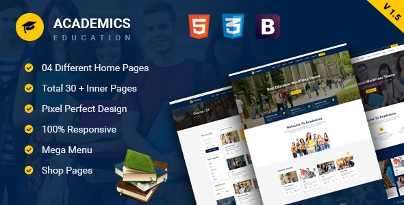 Academics - Education HTML Template Free Download Nulled