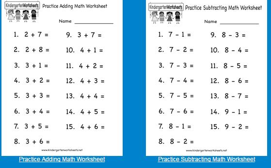 Lembar Kerja Matematika Penjumlahan Dan Pengurangan Untuk