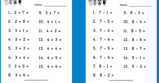 Lembar Kerja Matematika Penjumlahan Dan Pengurangan Untuk Anak Paud Tk Dan Sd Gudang Berkas Guru