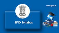 SFIO Syllabus