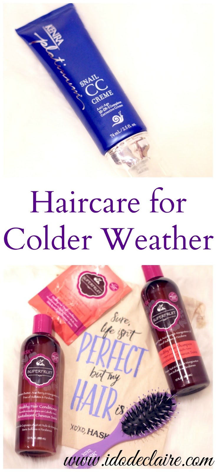 haircare for fall, Hask Superfruit review, Kenra Platinum Snail CC Creme reivew