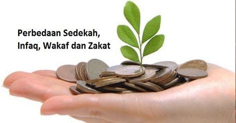 Perbedaan Sedekah, Infaq, Wakaf dan Zakat