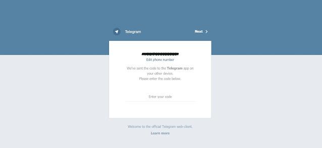 Verification for Telegram for Web