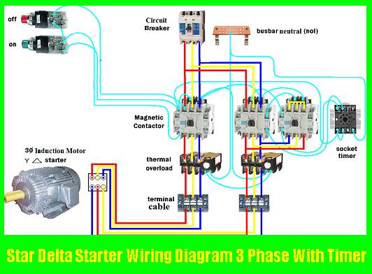 Star Delta Starter Wiring Diagram 3 Phase With Timer