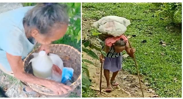 75 anyos na Lola sa Cebu, umakyat ng bundok para mangolekta ng 3 galon ng tubig