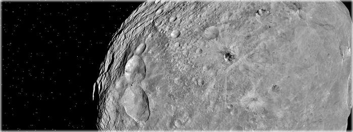antigas crateras de Vesta desapareceram