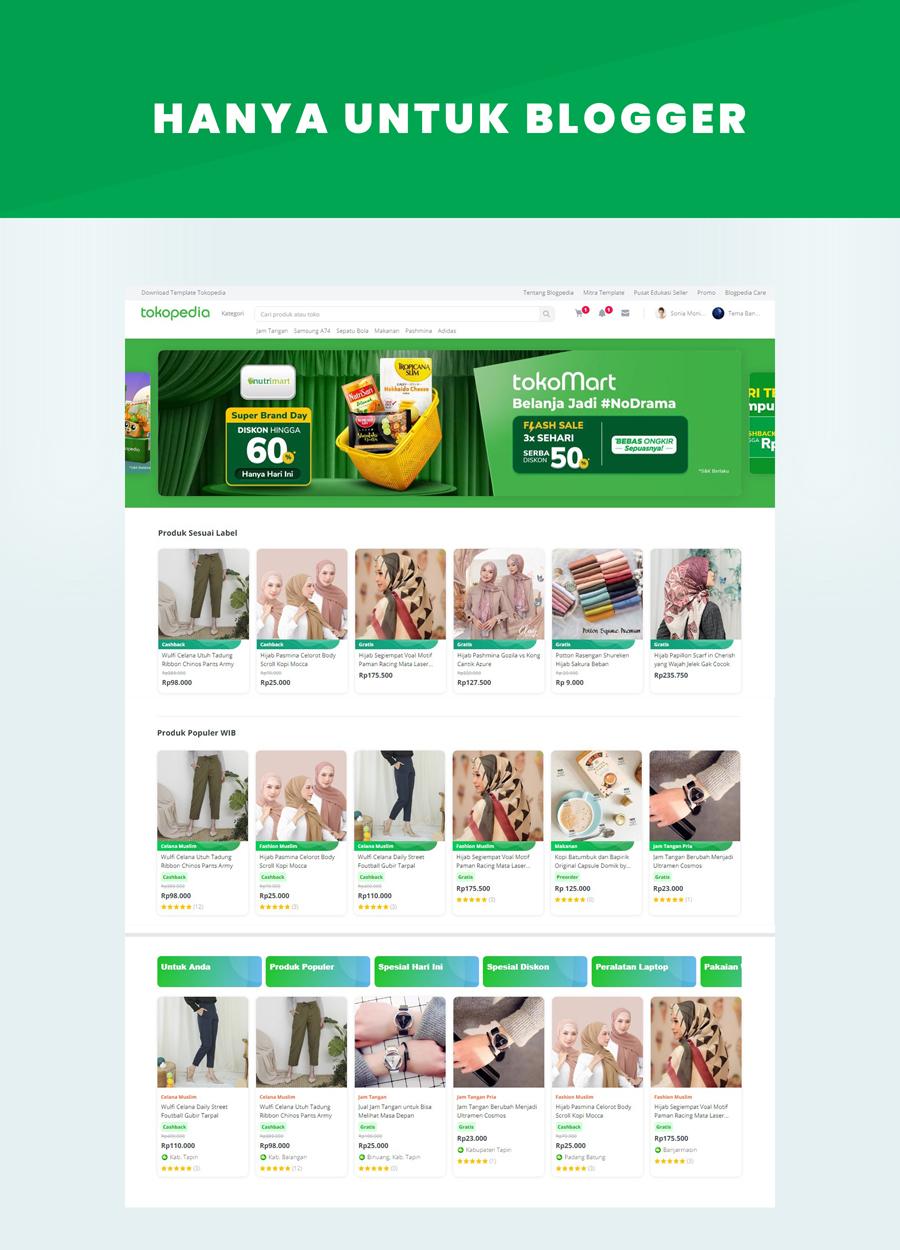 Blogpedia - Online Store Template Blogger Premium Indonesia