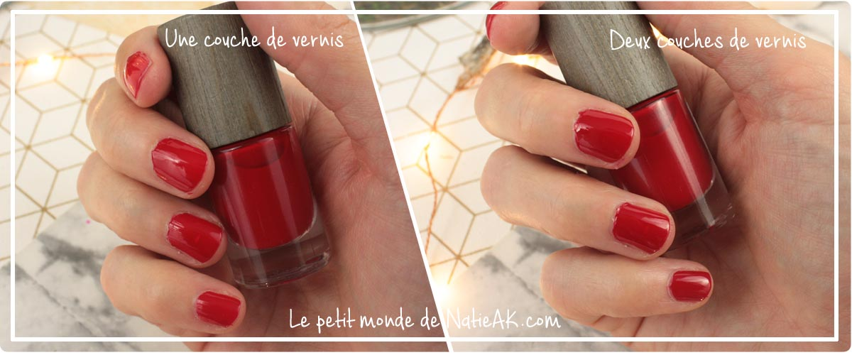 vernis à ongles rouge Boho  green make up