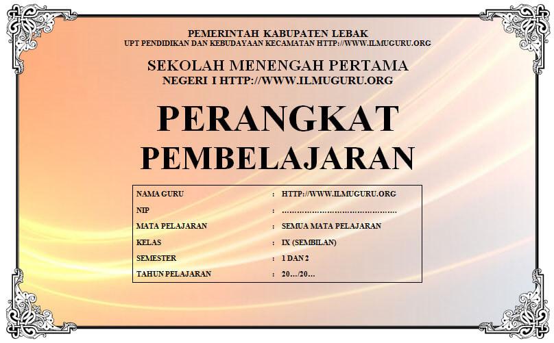 Perangkat Bahasa Indonesia Kelas 9