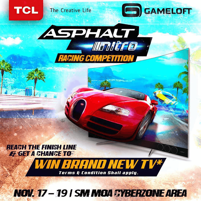 TCL and Gameloft announces Asphalt Nitro racing competition