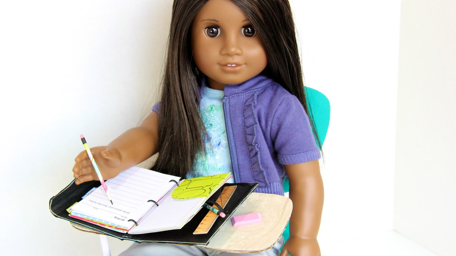 My Froggy Stuff Back To School Doll Binder And Folders