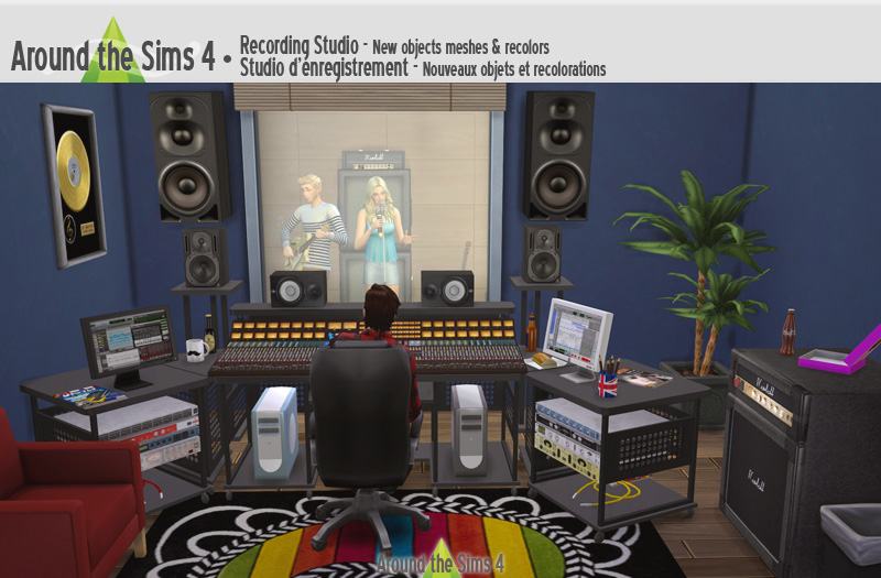 My Sims 4 Blog Recording Studio Set By Sandy Around The