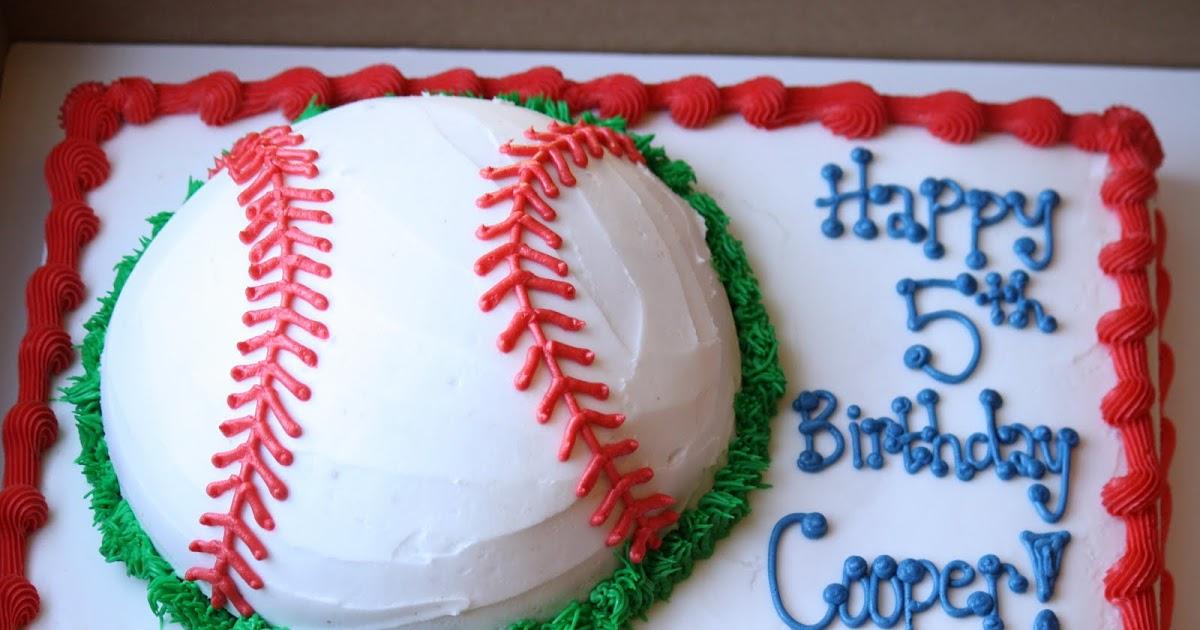 A Perfect Bite: Cooper's 5th Birthday (Baseball Cake