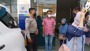 Jamin Kamtibmas Binmas Polsek Dayeuhkolot Polresta Bandung Sambangi Kantor Perbankan
