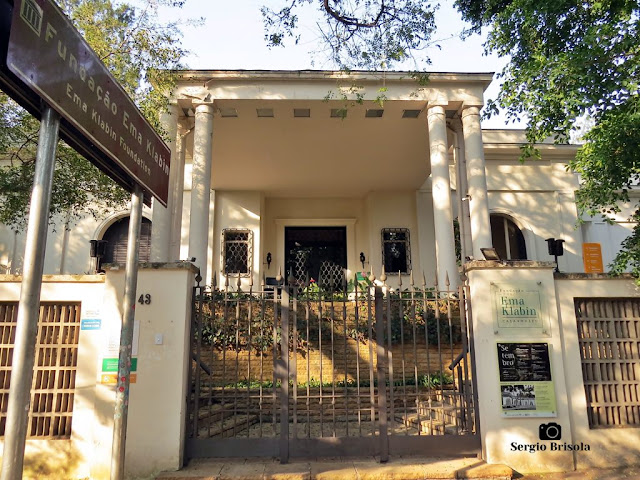 Vista da entrada da Fundação Ema Klabin - Jardim Europa - São Paulo