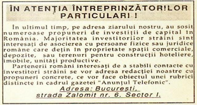 supliment ziar anuntul telefonic