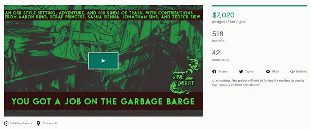 https://www.kickstarter.com/projects/garbagebarge/you-got-a-job-on-the-garbage-barge