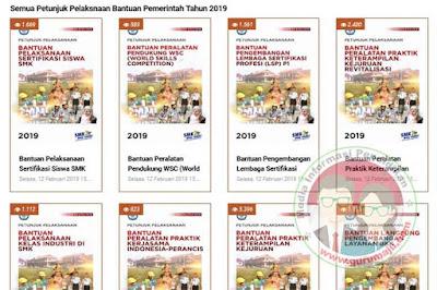 Juklak / Juknis Bantuan Pemerintah Tahun 2019 Untuk SMK