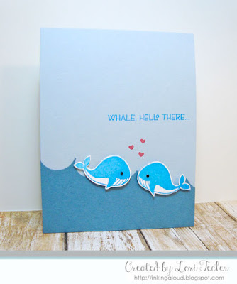 Whale Hello There card-designed by Lori Tecler/Inking Aloud-stamps from Clear and Simple Stamps