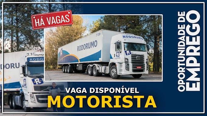 Rodorumo Transportes abre vagas para Motorista  Carreteiro