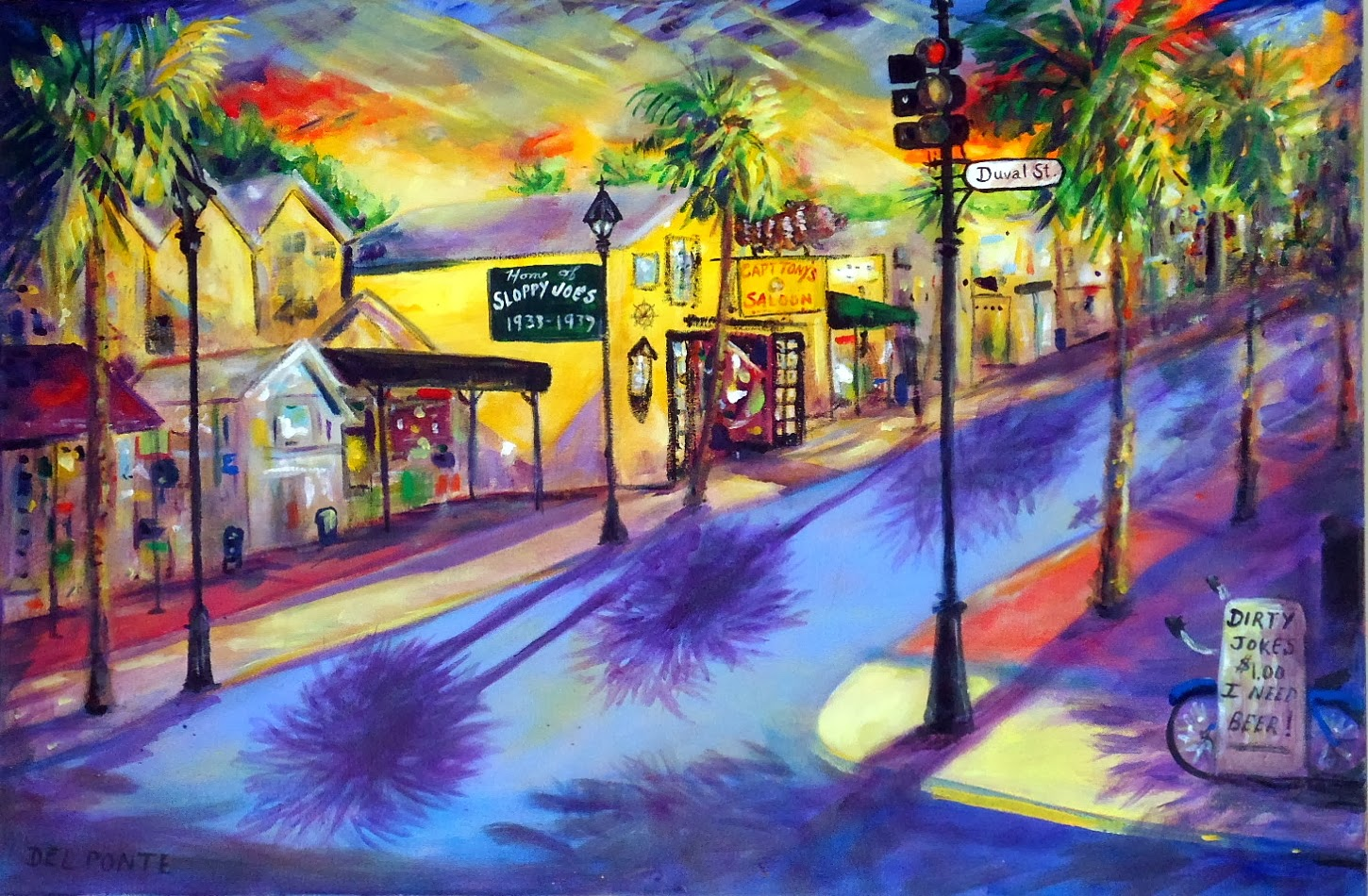 DEL PONTE Style Full Time Professional Artist KEY WEST