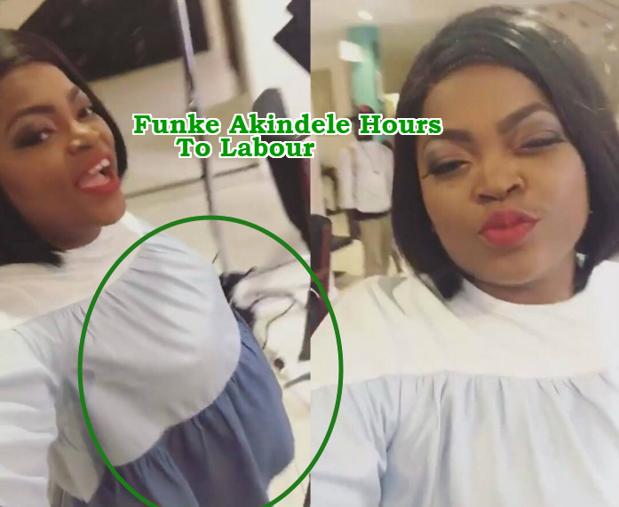 funke akindele gives birth secretly