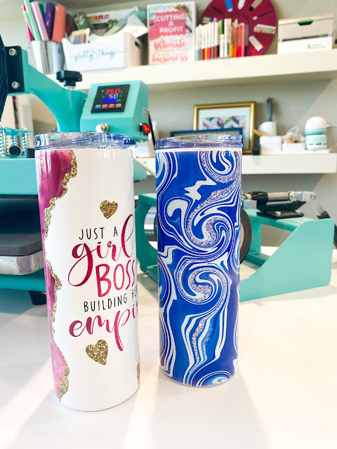 sawgrass, silhouette and sublimation, 8-in-1 heat press, skinny tumbler sublimation, sublimation, 20 ounce skinny tumblers