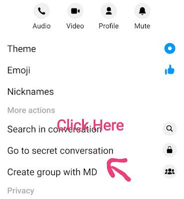 Secret Conversation feature