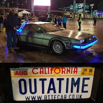 A Back to the Future DeLorean in Salford