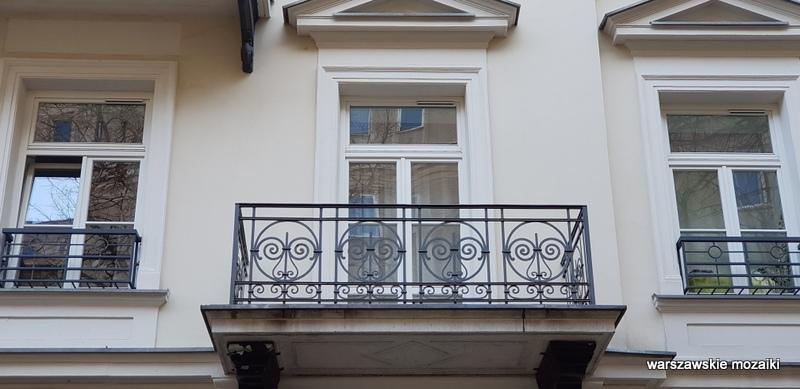 Warszawa Warsaw warszawskie kamienice ulica Piękna Karol Kozłowski architektura balkon