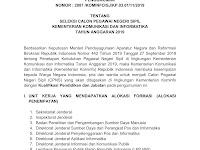Seleksi CPNS Kementerian Komunikasi dan Informatika Tahun Anggaran 2019