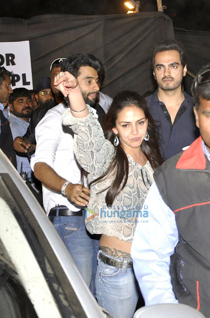 Jackky, Esha  & Zayed khan at DJ Tiesto's concert