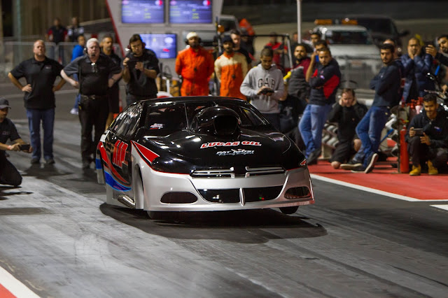 Lizzy Musi in a Dodge Dart with Al Anabi Racing